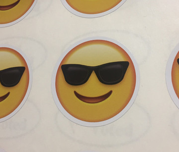 Cool Happy Face Stickers